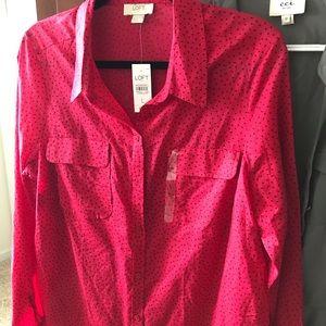Loft blouse. New size large
